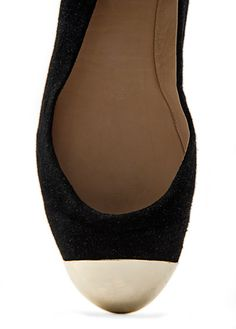 MANGO TOUCH - Metal toe cap ballerinas
