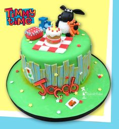 Cbeebies Timmy Time Cake, all edible and hand modelled.