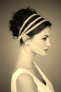 updo with headbands
