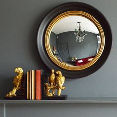 Round Convex Porthole Mirror - available from MiaFleur