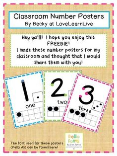 Touch Math Number Posters - I still use my touch points when doing math in my head! lol very useful skill not taught much anymore. I'm teaching my little one and the maybe my class! Numbers Preschool, Math Numbers, Preschool Math, Math Classroom, Kindergarten Math, Teaching Math, Classroom Ideas, Teaching Strategies, Touch Point Math