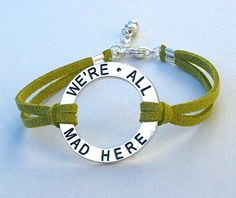 We're All Mad Here  Silver Circle Infinity Charm by BeMyCharm, $9.50