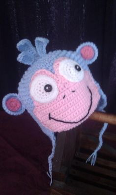 Boots the Monkey from Dora the Explorer Hat by GetHooked2013, $5.00