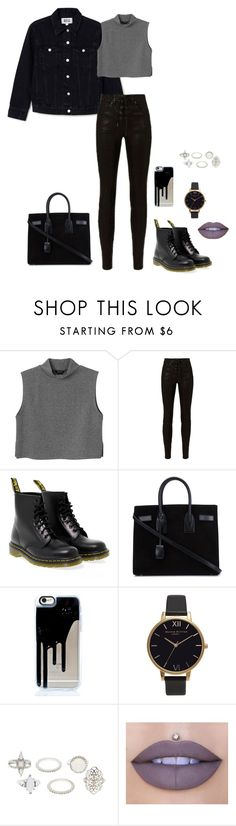 """hard carry"" by shay-the-turtle on Polyvore featuring Monki, rag & bone, Dr. Martens, Yves Saint Laurent, Olivia Burton, Charlotte Russe and Jeffree Star"
