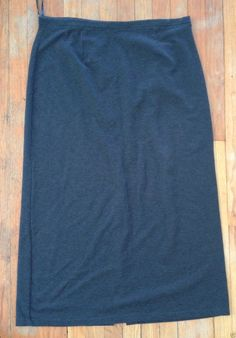 Amanda Smith Charcoal Gray Long A Line Maxi Stretch Knit Skirt XL | eBay - Recycled Couture #Fashion #Apparel #Shopping #eBay