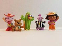 Dora The Explorer Action Figure Doll Viacom PVC Toy Lot Swiper Boots Tico Osito #Mattel