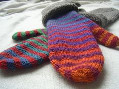 Ravelry: Pride Mittens pattern by Catherine Gamroth Knitted Mittens Pattern, Knit Mittens, Knitted Gloves, Knitting Socks, Baby Knitting, Knitting Stitches, Knitting Patterns, Crochet Patterns, Crochet Toddler
