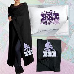Sorority Cheetah Pillowcase and Blanket Package #Greek #Sorority #Clothing #Accessories