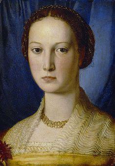 Portrait of Costanza da Sommaia (1540) // by Bronzino