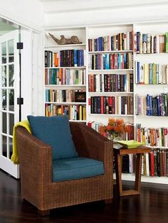 I love built in shelving! I own a lot of books, and wouldn't mind at least one bookshelf in every room!