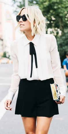 Black And White Girly Chic Outfit by Damsel In Dior