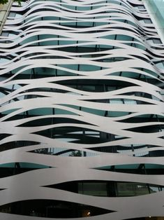 a sea wave facade in Barcelona, architecture by Toyo ITO, Japan 伊東 豊雄