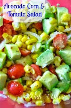Tomato, Tomatillo, And Corn Salad With Avocado Dressing Recipe ...