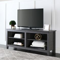 58 inch Charcoal Grey TV Stand | Overstock.com Shopping - The Best Deals on Entertainment Centers