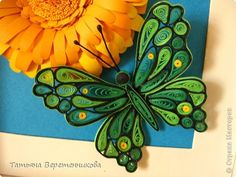 Картина, панно, рисунок Квиллинг: Мир, ярких красок полный Бумажные полосы. Фото 2