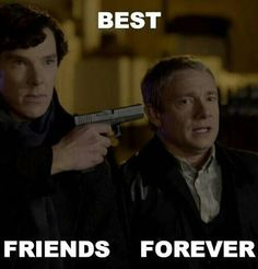 """And THIS is why everyone thinks we're crazy; when we look at this and go """"Awww! Sherlock loves him so much!"""""""