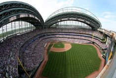 """Being a former Industrial Engineer, it is no surprise that one of Lou's favorite things to talk about is the roof of Milwaukee County Stadium, home of the Milwaukee Brewers.    """"The roof is the only one of its kind and many people are interested in hearing about that,"""" he said."""