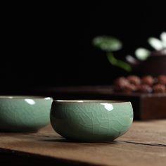 Five Colors Chinese Longquan Celadon Gaiwan China Teacup Tea Bowl 45ml Brother Kiln Porcelain Tea Pot Coffee Cup High Quality(China (Mainland))