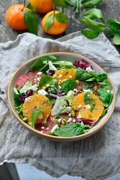 """Het lekkerste recept voor """"Winterse citrussalade"""" vind je bij njam! Ontdek nu meer dan duizenden smakelijke njam!-recepten voor alledaags kookplezier! Food Inspiration, Cobb Salad, Feta, Salad Recipes, Salsa, Vegetarian Recipes, Veggies, Health, Ethnic Recipes"""