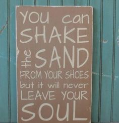 Beach cabin sign...