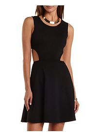 Open Back Cut-Out #Skater #Dress Available at Citadel Mall, Charleston, SC