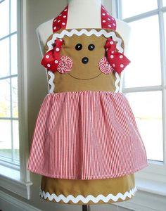 Girl Gingerbread, Snowman & Plain Aprons