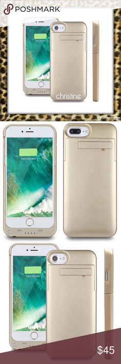 New!🌞Gold iPhone battery charger •New!!!  •GOLD •Portable Battery charger for iPhone 7/6/6S •works just like Mophie iphone Accessories Phone Cases