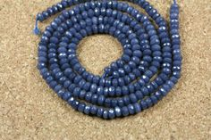 Purple Jade Rondelle Beads  Dyed Faceted Jade Beads by ABOSBeads, $7.99
