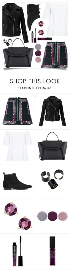 """OOTD - Embroidered Skirt"" by by-jwp ❤ liked on Polyvore featuring Isabel Marant, Miss Selfridge, Edit, H by Hudson, Kate Spade, Smith & Cult, NYX and Maybelline"