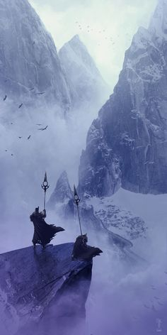 The Mountain Guards by Emmanuel Bouley Fantasy Art Watch