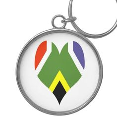 Shop for customizable Flag keychains on Zazzle. Buy a metal, acrylic, or wrist style keychain, or get different shapes like round or rectangle! Peace Flag, Africa Flag, Silver Color, South Africa, African, Gifts, Presents, Gifs, Favors