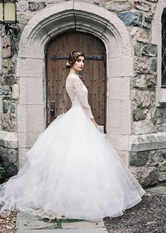 Esmeralda, a lace long sleeved wedding gown from the Sareh Nouri Fall 2015 Collection. View the full bridal collection in our wedding fashion feature at SingaporeBrides.