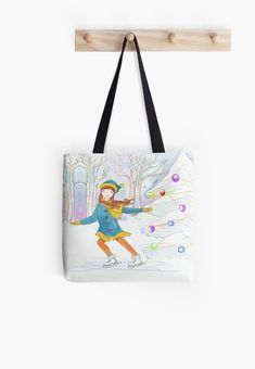 Snow at Christmas has made this little girl very happy. Best Tote Bags, Skate, Little Girls, Finding Yourself, Christmas Gifts, Reusable Tote Bags, Snow, Artists, Unique