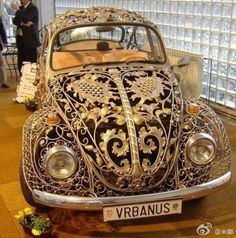 Steampunk by DreamSteam: Neo-Victorian VW Beetle . and Other Wrought Iron Vehicles SteamPUNK ☮k☮ Auto Volkswagen, Vw T1, Volkswagon Bug, Vw Modelle, Vw Vintage, Vintage Style, Pt Cruiser, Luxury Sports Cars, Neo Victorian