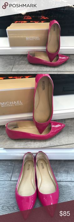 🎃‼️NWT Michael Kors Flats‼️🎃 NWT Michael Kors Flats! Hot Pink! Size 7! Small wear mark inside from the store. ‼️OPEN TO OFFERS‼️ Michael Kors Shoes Flats & Loafers