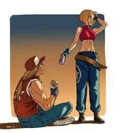 Terry and Mary's encounter Which kof characters should I do next? Terry and Mary Art Of Fighting, Fighting Games, Terry Bogard Fatal Fury, Ashe League Of Legends, Snk King Of Fighters, Character Art, Character Design, Street Fighter Characters, Street Fights