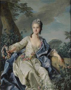 Portrait de la Comtesse Marie-Louise de Beaurepaire, 1766 Louis-Michel Van Loo