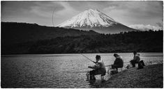 What's more scenic than fishing with that amazing mountain in the background? It's so cinematic and dramatic all the time. I can just picture these guys pulling fish out of the water and everything is in slow motion and majestic. - Mount Fuji, Japan - Photo from #treyratcliff Trey Ratcliff at http://www.StuckInCustoms.com