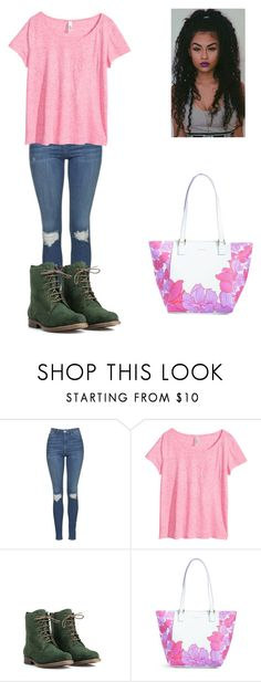"""Untitled #987"" by qveenkyndall16 ❤ liked on Polyvore featuring Topshop, H&M, JJ Footwear and Vera Bradley"