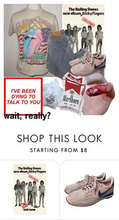"""""""Rolling Stones"""" by platinum-smoker ❤ liked on Polyvore featuring NIKE"""