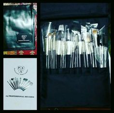 How can I ask for more when I have this huge bag of makeup brushes from @paccosmetic I'm in love with these... review coming up soon... #hercreativepalace #kanikasharma #blogger #youtuber #delhi #india #pac #paccosmetics #makeup #brushes #professional look #makeupbrushes #somuchlove #makeuplover #kannu #cantwait #totrythese