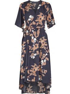 Tan wrap dress Anthracite