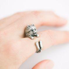 Pomeranian Dog Ring,Dog Ring, Puppy Ring size 5 ~ 9 us
