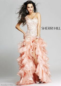 Sherri Hill 3848 is sweet and sassy and full of playful appeal. Find this and other great styles on our website at www.frenchnovelty.com
