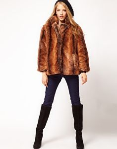 Enlarge ASOS Vintage Swing Fur Coat