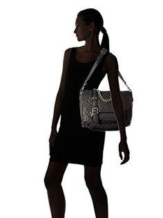 ASH Women's Britt Convertible Backpack, Black Quilt