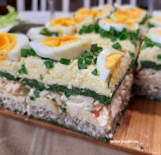 Tort sałatkowy - hit każdej imprezy - Swojskie jedzonko Sushi, Appetizers, Cooking Recipes, Lunch, Ethnic Recipes, Easter, Appetizer, Chef Recipes, Eat Lunch