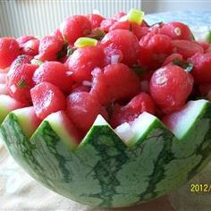 delicious and refreshing salsa uses watermelon in place of tomatoes ... Watermelon Fire and Ice Salsa Allrecipes.com