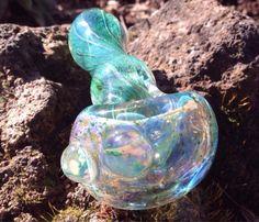 Crystal Aqua Twist Pipe by JointCreations on Etsy https://www.etsy.com/listing/180324834/crystal-aqua-twist-pipe