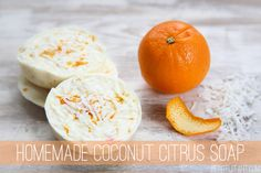 Homemade Soap Recipe with Coconut and Citrus --- this looks amazing, and the instructions looks easy as pie!